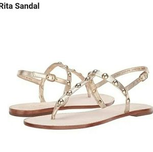 Lilly Pulitzer Rita Sandal Leather Thong Sandals 8
